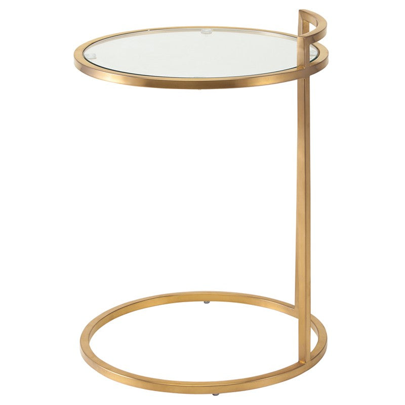 Lily Clear Glass Side Table