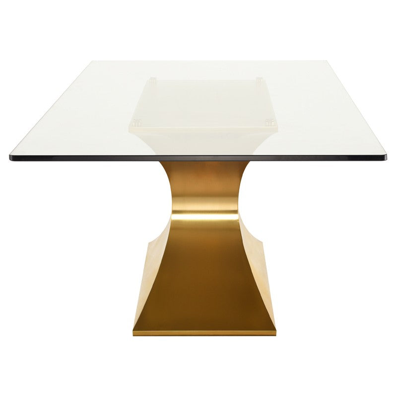 Praetorian Glass Dining Table   Dining Table Nuevo Four Hands, Mid Century Modern Furniture, Old Bones Furniture Company, https://www.oldbonesco.com/