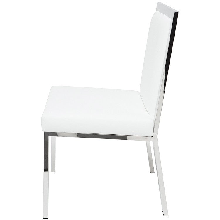 Rennes Dining Chair White Leather