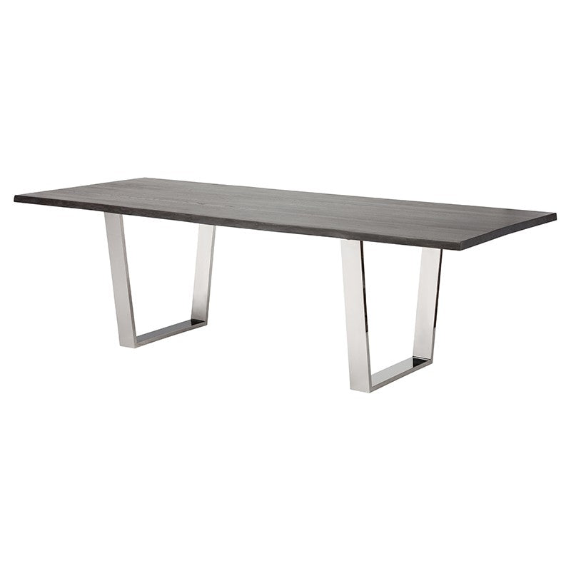 Versailles Oxidized Grey Wood Dining Table   TABLE Nuevo Four Hands, Mid Century Modern Furniture, Old Bones Furniture Company, https://www.oldbonesco.com/