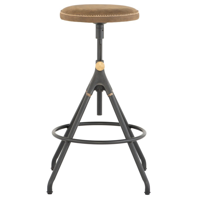 AKRON COUNTER STOOL - UMBER TAN LEATHER