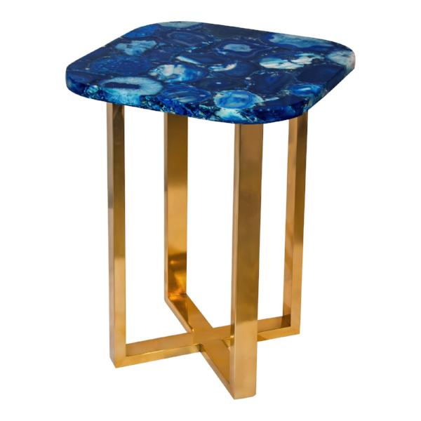 OCEANIC BLUE AGATE ACCENT TABLE
