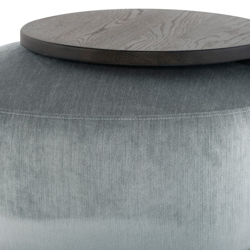 Orbit Ottoman - Limestone   OTTOMAN District Eight, Old Bones Co  https://www.oldbonesco.com/
