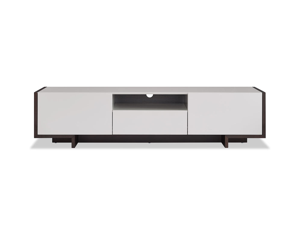 Noah TV Unit High gloss Taupe with dark oak veneer High gloss Taupe with dark oak veneer TV Stand Whiteline Four Hands, Mid Century Modern Furniture, Old Bones Furniture Company, https://www.oldbonesco.com/