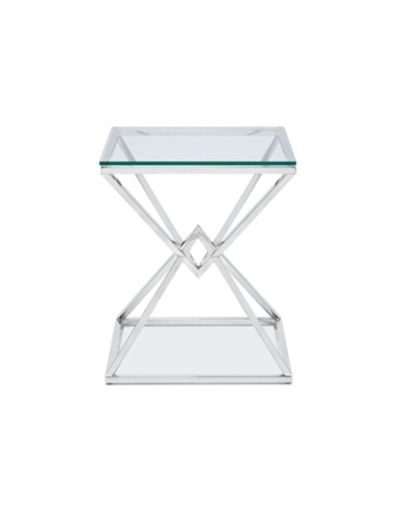 Candler Side Table - Polished Stainless Steel