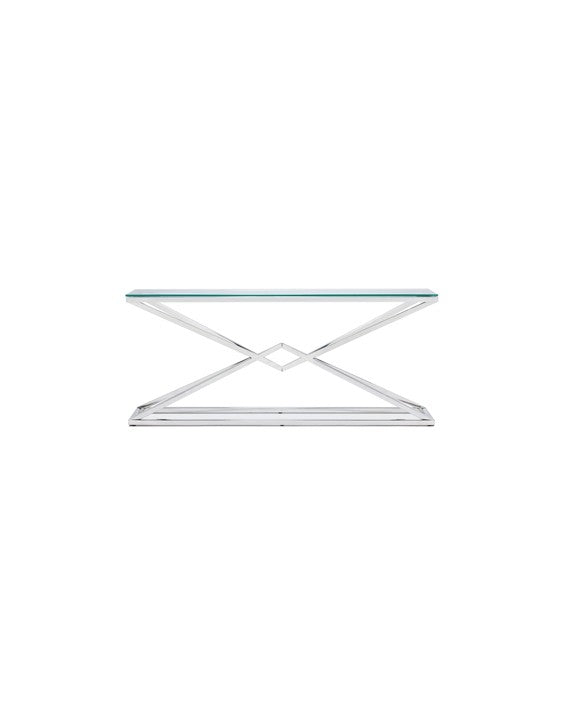 Chandler Console Table - Polished Stainless Steel