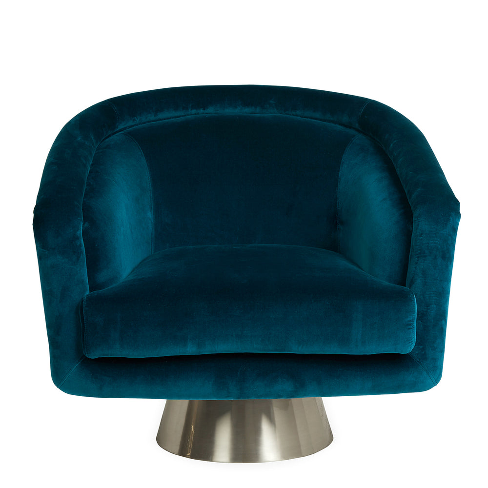 Bacharach Swivel Chair   Lounge Chair Jonathan Adler Four Hands, Mid Century Modern Furniture, Old Bones Furniture Company, https://www.oldbonesco.com/