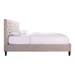 GENIE STORAGE BED QUEEN GREY VELVET