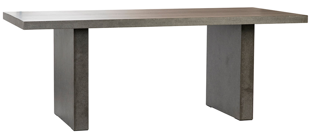 The Atlas Rectangular Rectangle Table, Cement Gray
