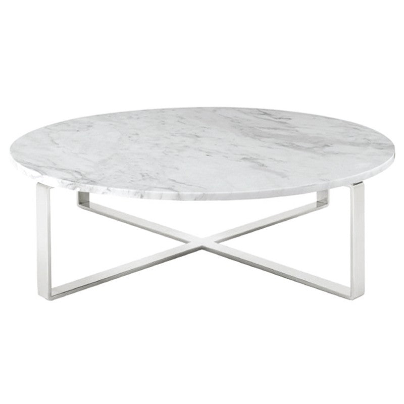 Rosa White Stone Coffee Table