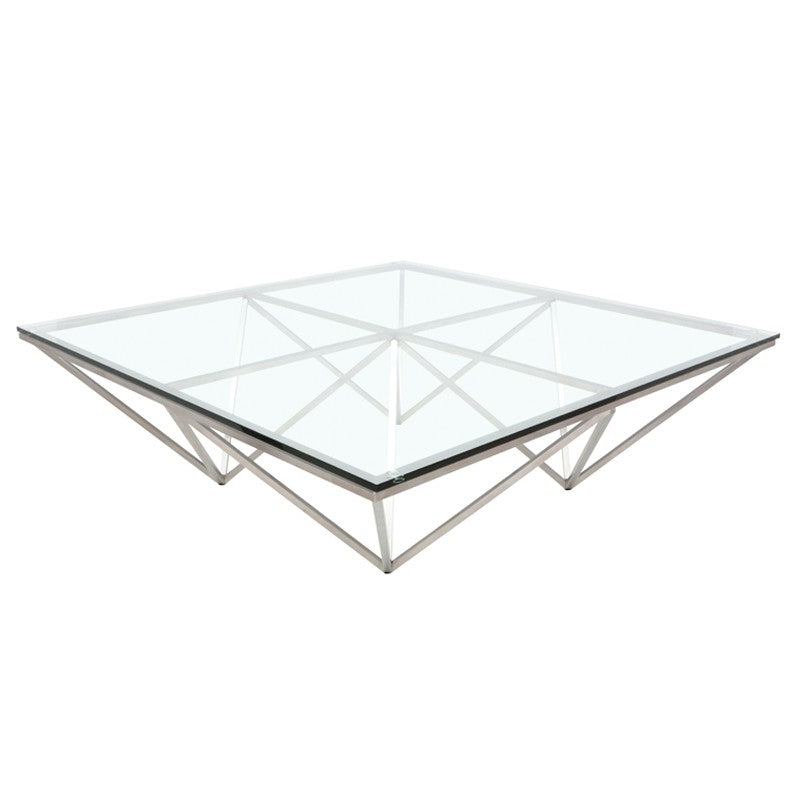 Origami Clear Glass Coffee Table