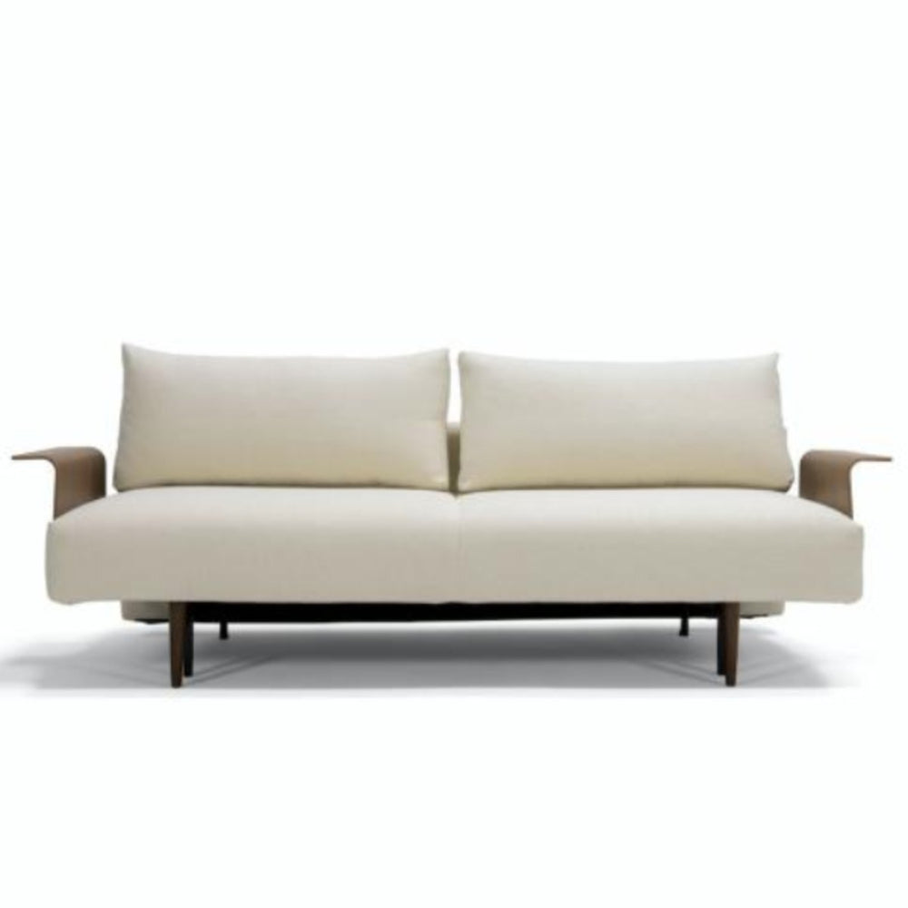 Frode Dark Styletto Sofa Bed Walnut Arms