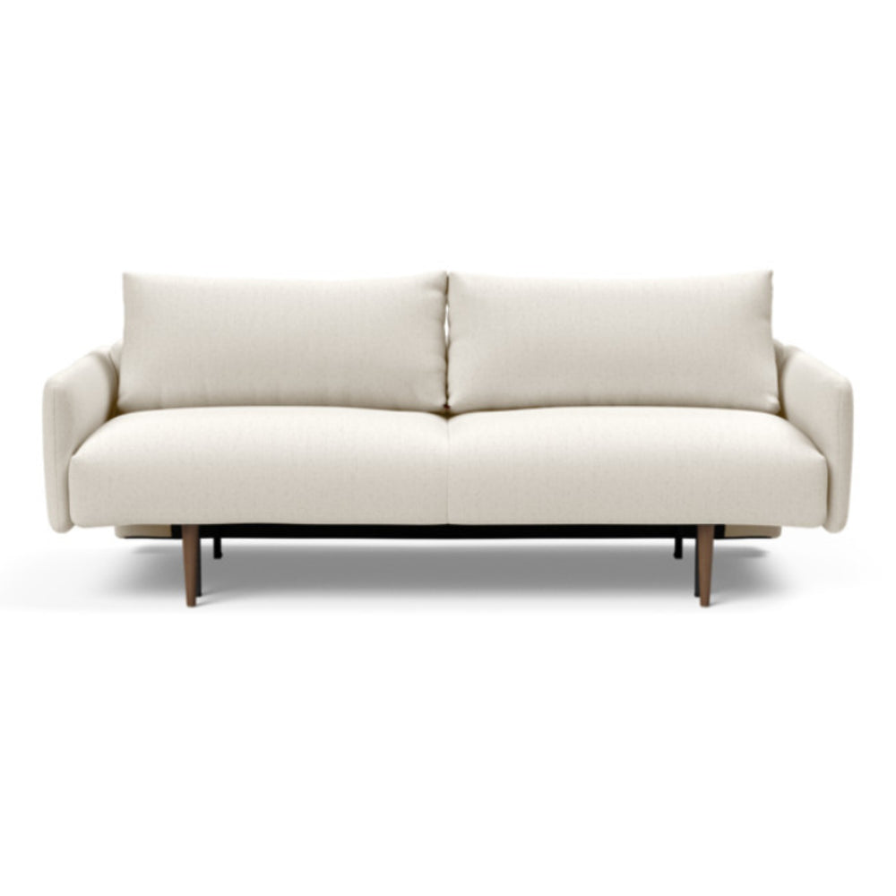 Frode Dark Styletto Sofa Bed Upholstered Arms