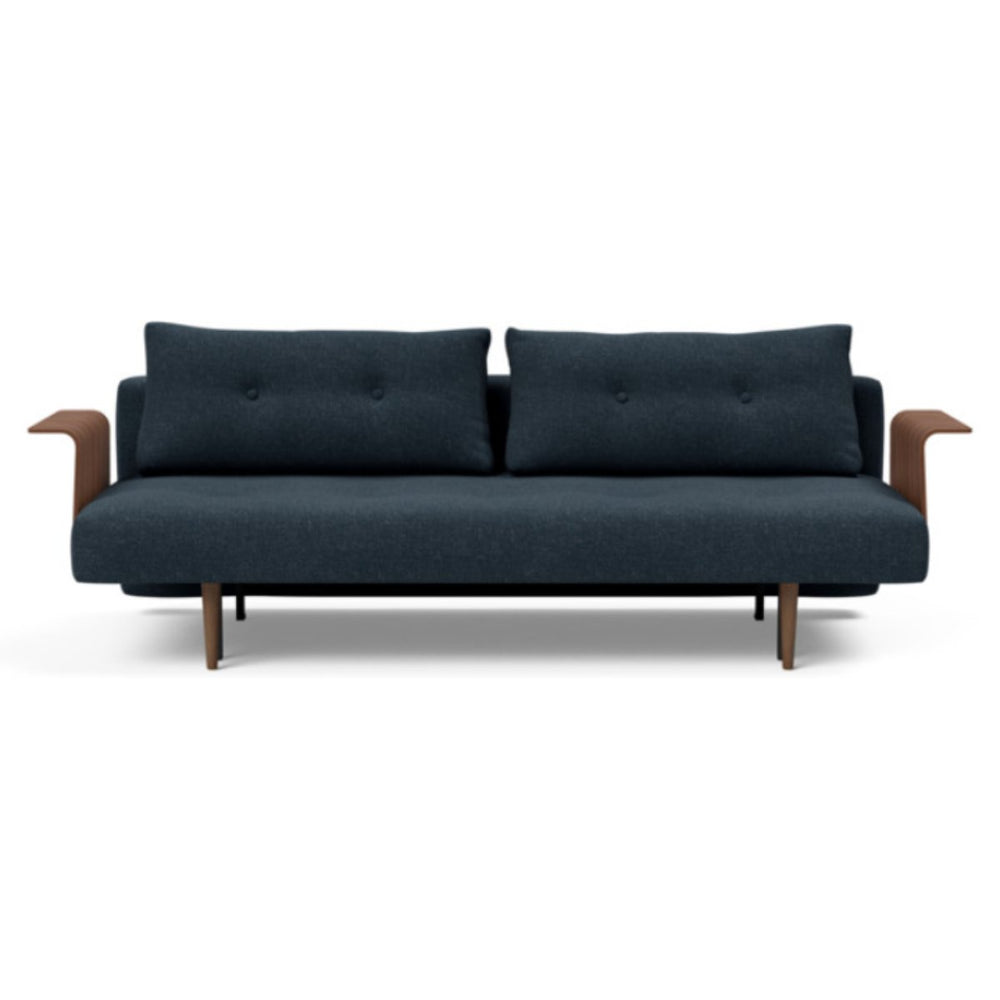 Recast Plus Sofa Bed Dark Styletto With Arms