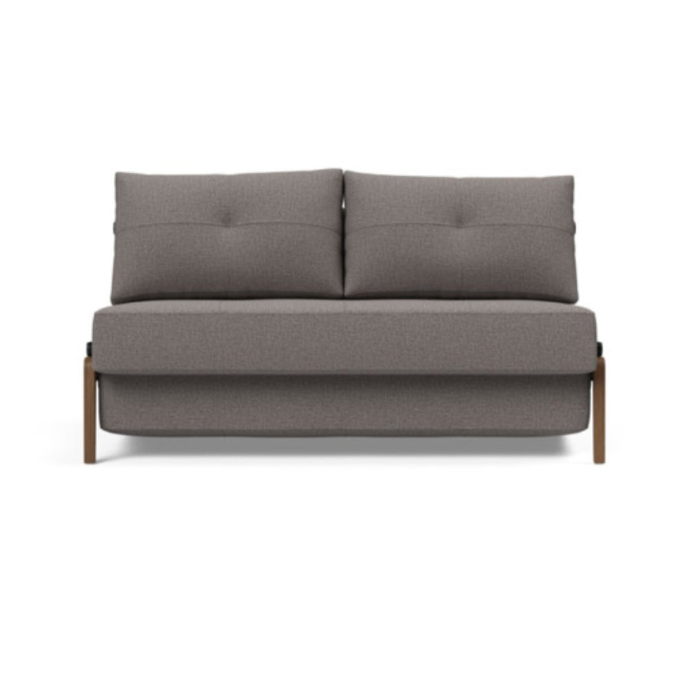 Cubed Full Size Sofa Bed With Dark Wood Legs