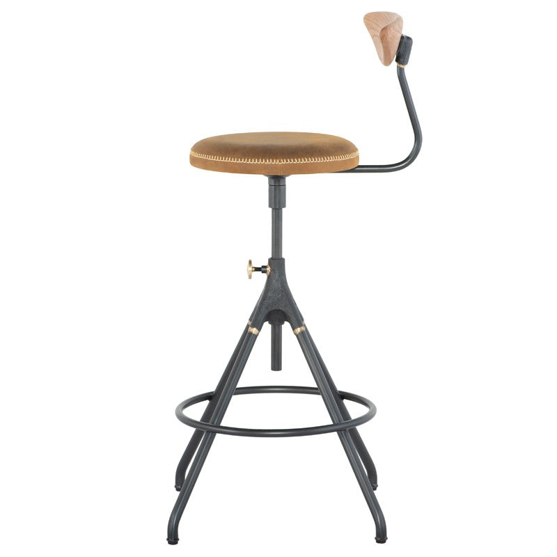 Akron Counter Stool With Back - Umber Tan   BAR AND COUNTER STOOL District Eight, Old Bones Co  https://www.oldbonesco.com/