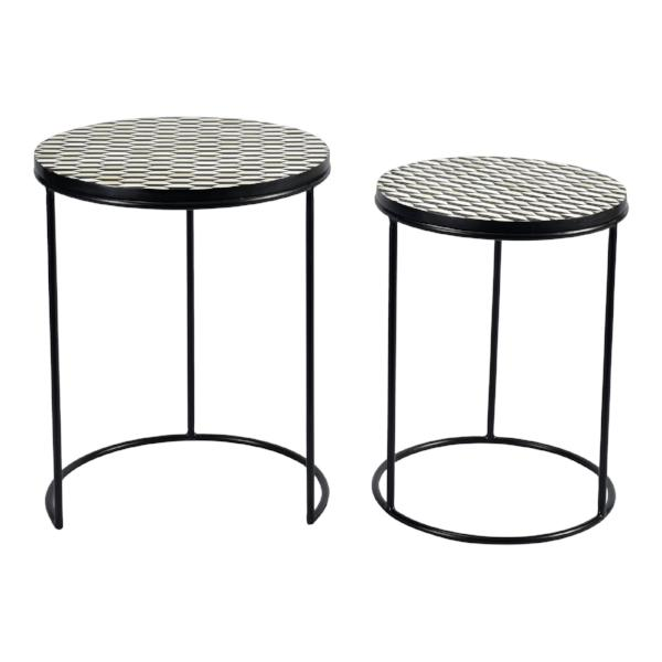 Optic Nesting Tables Set Of Two   Accent Tables Moe's Four Hands, Mid Century Modern Furniture, Old Bones Furniture Company, https://www.oldbonesco.com/