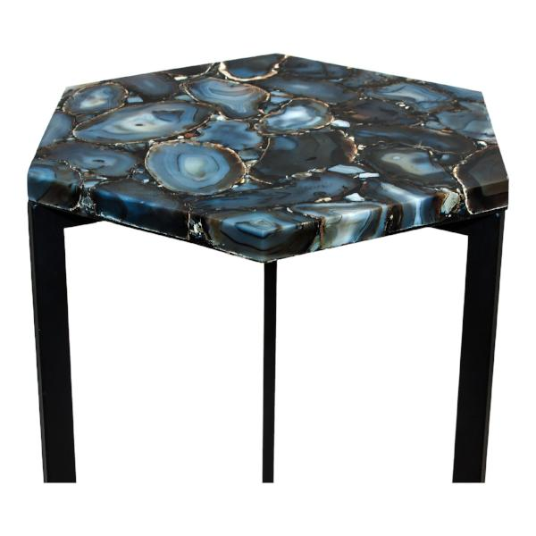 Hexagon Agate Accent Table   Accent Tables Moe's, Old Bones Co  https://www.oldbonesco.com/