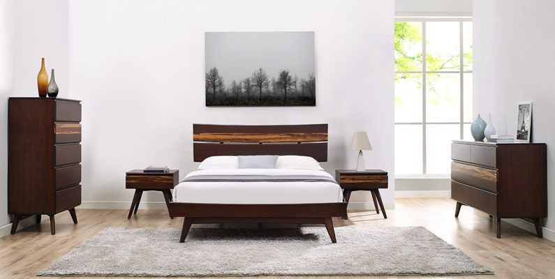 Azara King Platform Bed, Sable http://www.oldbonesco.com/ Bed  - 4