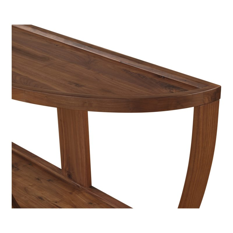 Dylan Console Table Rustic Walnut