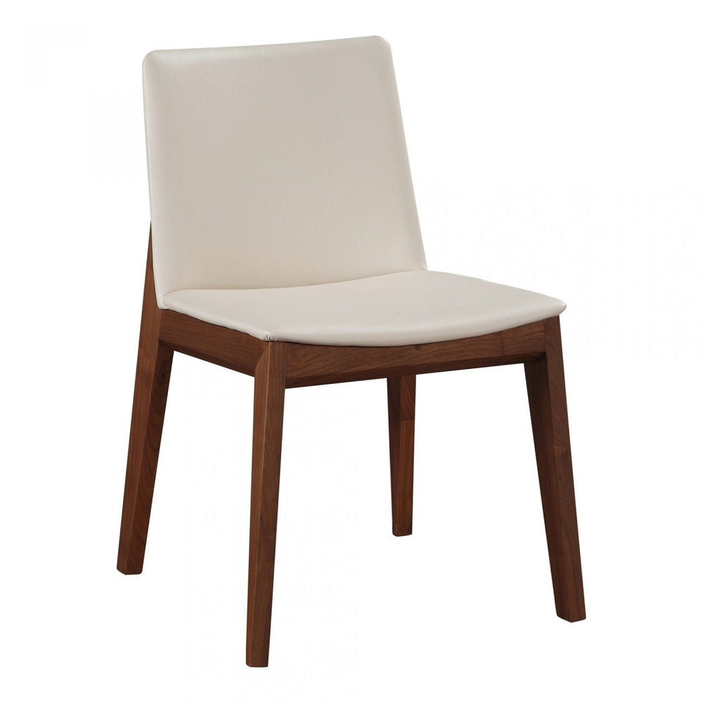 Moe's Deco Dining Chair White PVC-M2