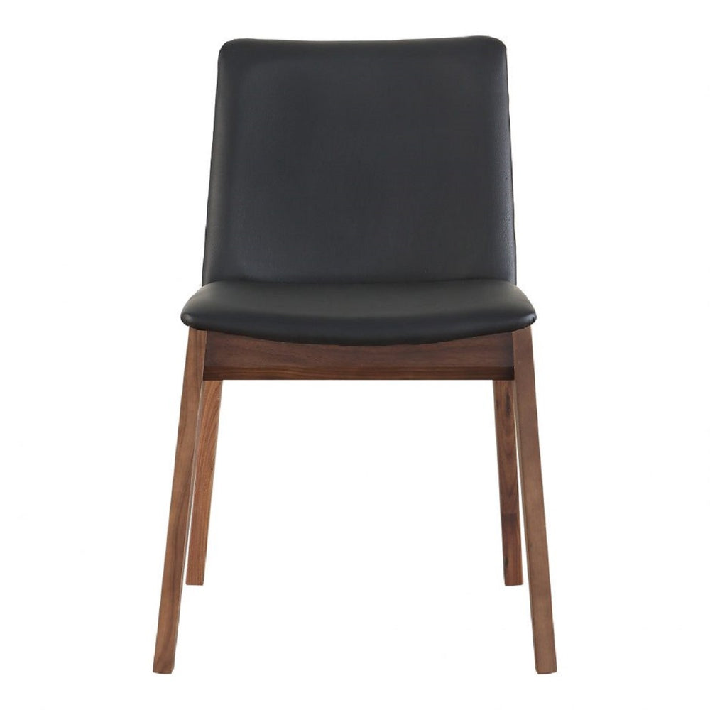 Deco Dining Chair Black PVC-M2 (Set of 2)