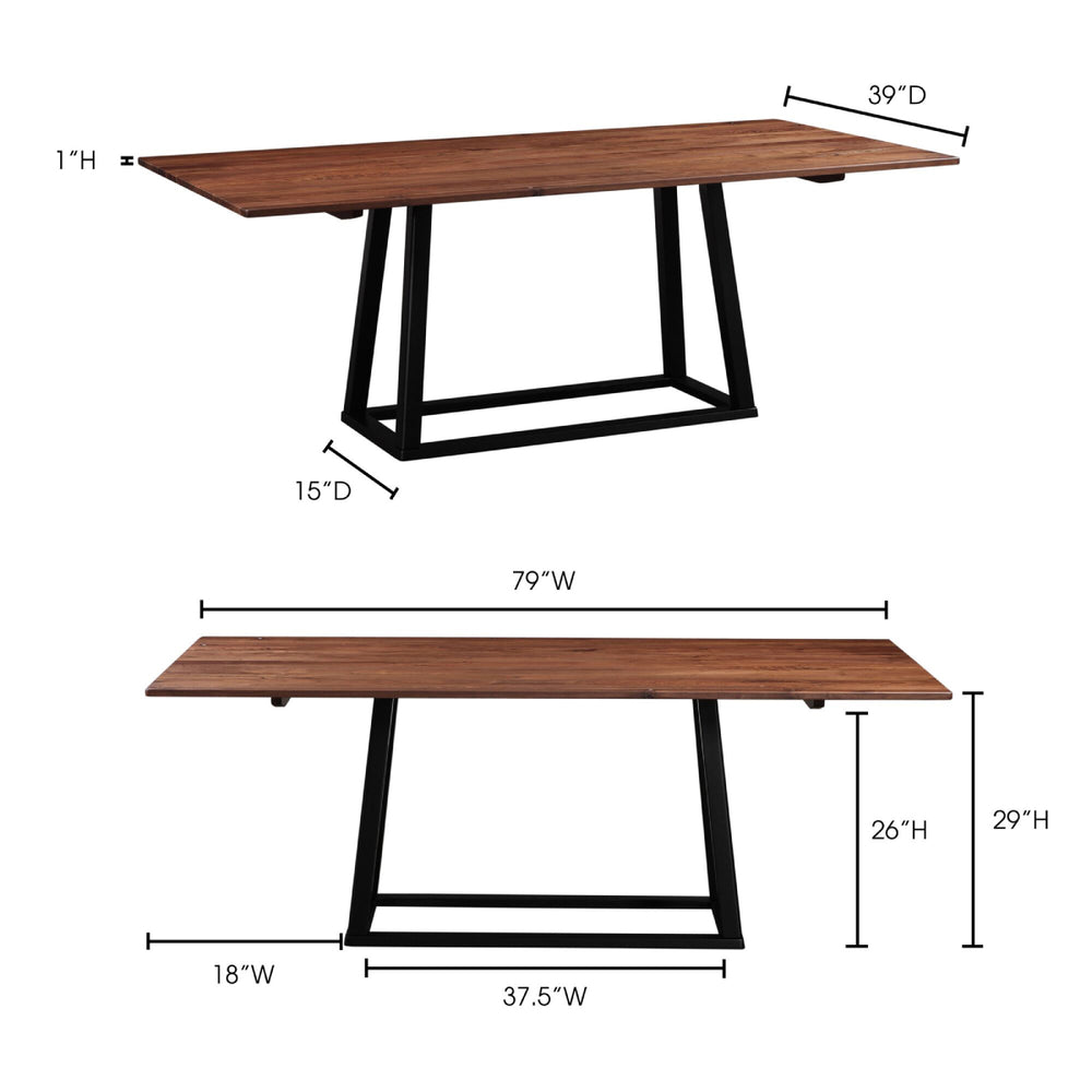 Tri-mesa Dining Table   Dining Table Moe's, Old Bones Co  https://www.oldbonesco.com/
