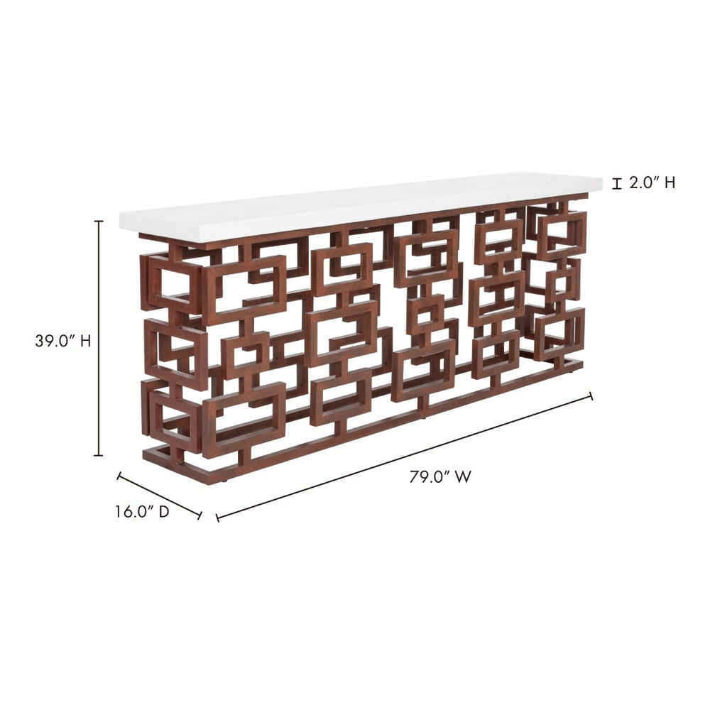 Ivey Outdoor Console Table - BQ-1033-18-4