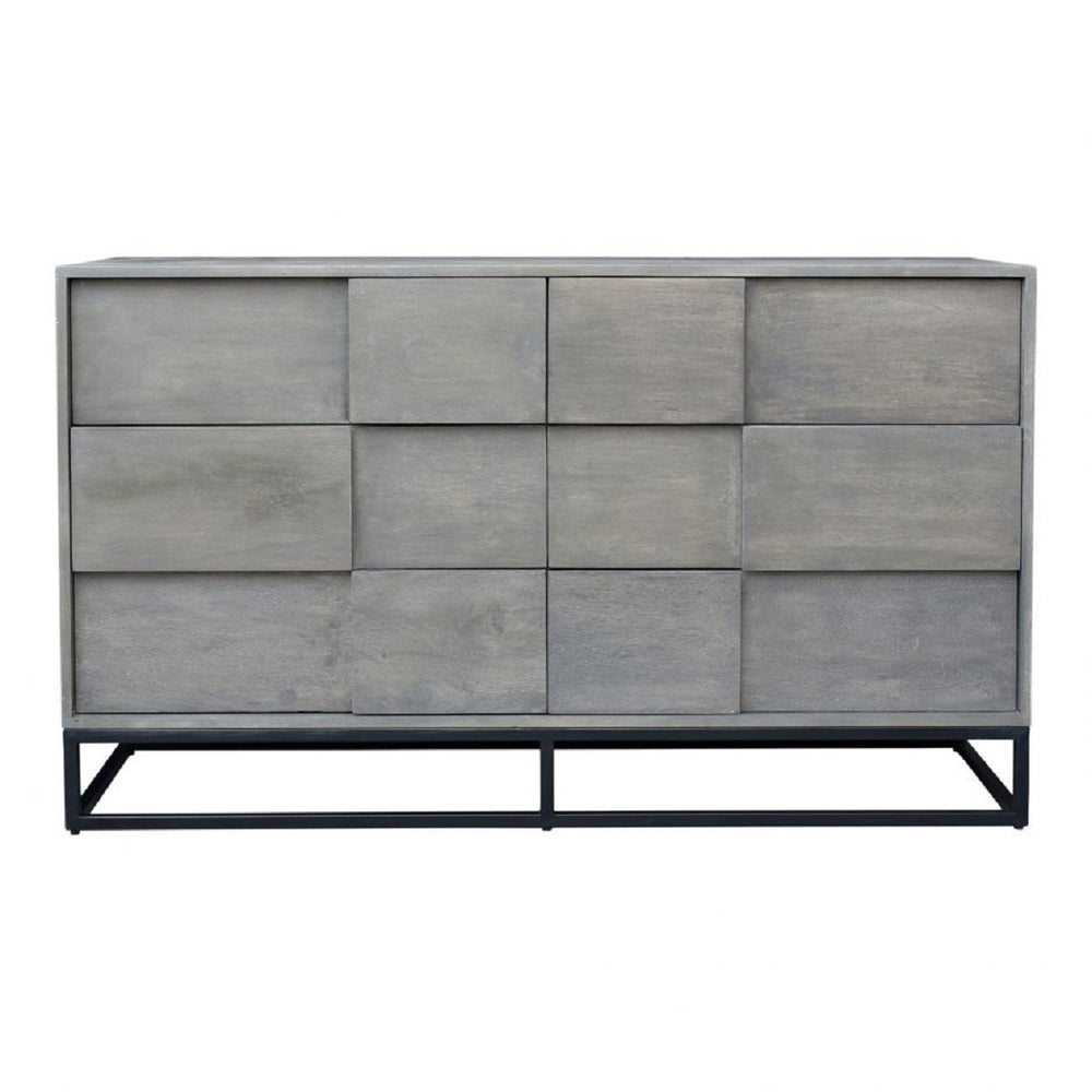 Felix 6 Drawer Dresser - Grey