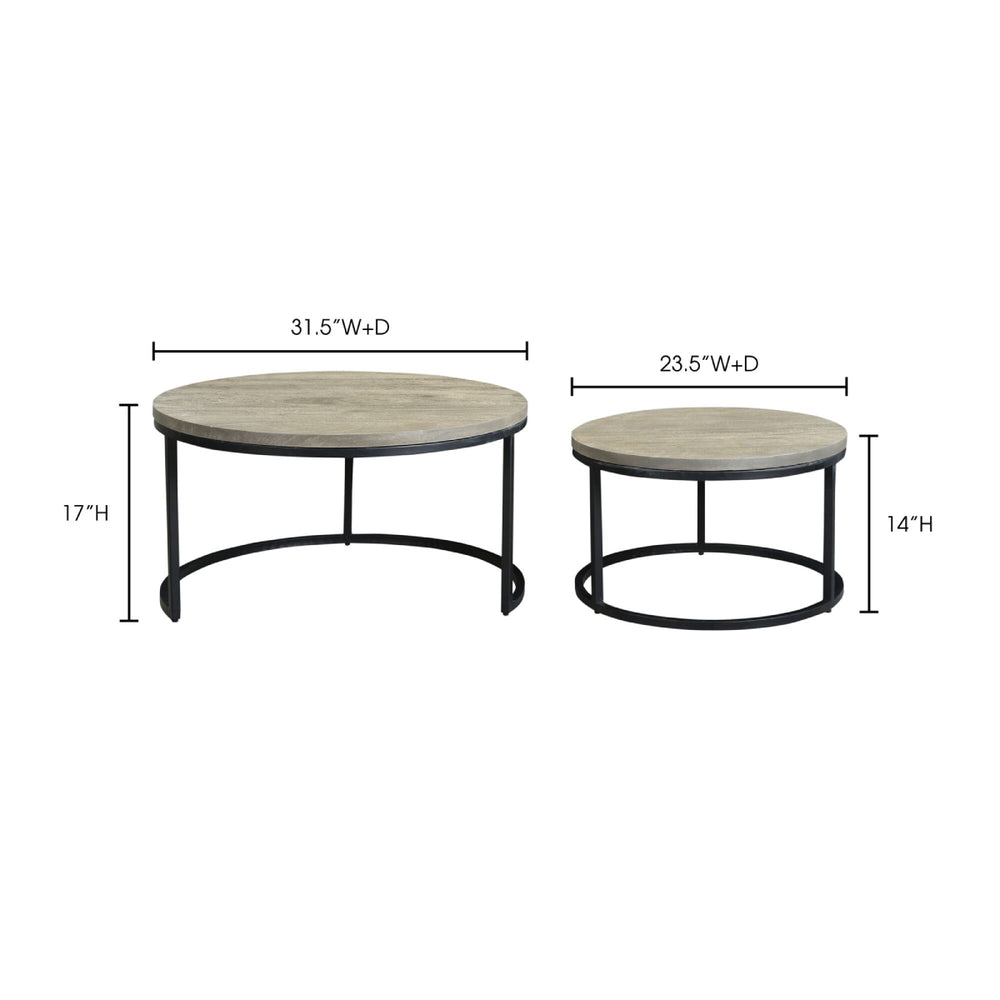 Moe's Drey Round Nesting Coffee Tables Set of 2
