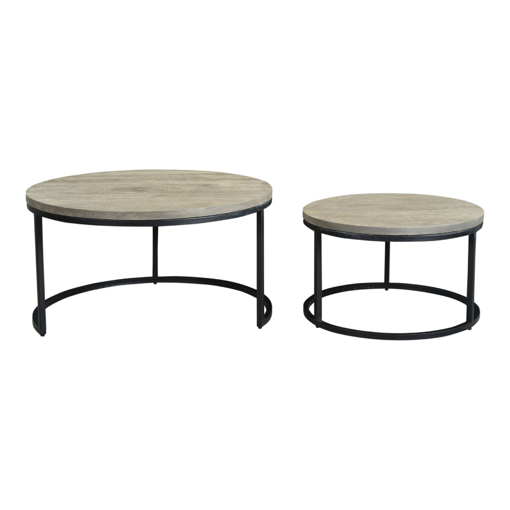 Drey Round Nesting Coffee Tables Set of 2   Coffee Tables Moe's Old Bones Furniture Company https://www.oldbonesco.com/