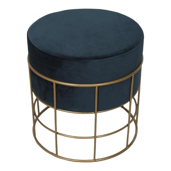 Horton Stool Blue   Stools & Benches Moe's, Old Bones Co  https://www.oldbonesco.com/