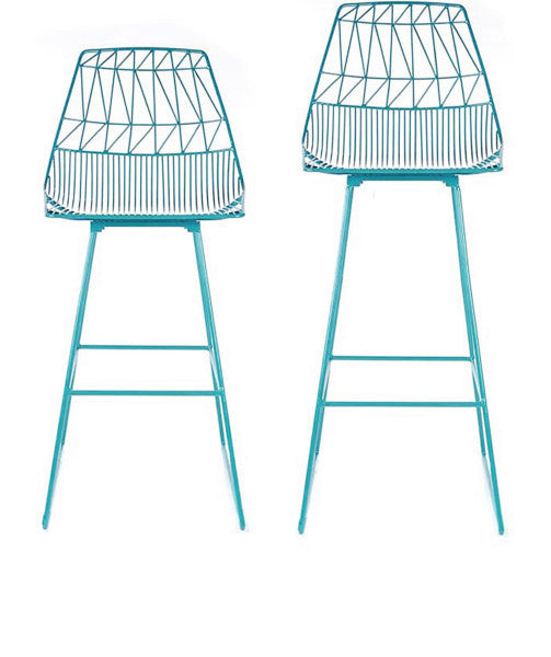 Lucy Bar Stool (Set of Two) Peacock Blue-(set of two) Peacock Blue-(set of two) Bar Stool Bend Goods Old Bones Furniture Company https://www.oldbonesco.com/