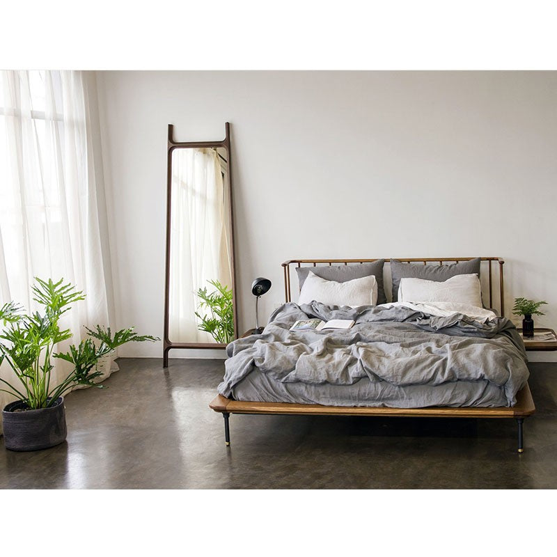 Distrikt Bed Queen Bed   BED District Eight Old Bones Furniture Company https://www.oldbonesco.com/