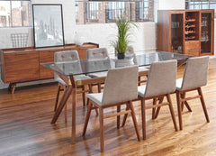 Denali Glass Dining Table - Old Bones Furniture Company