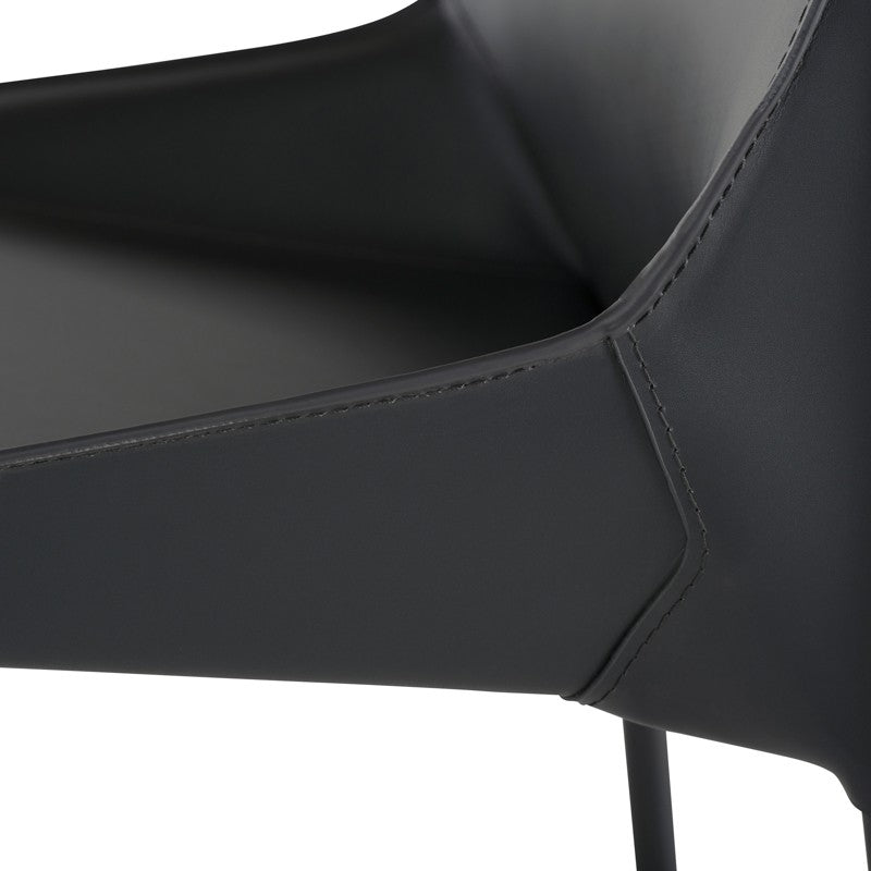 DELPHINE DINING CHAIR - DARK GREY