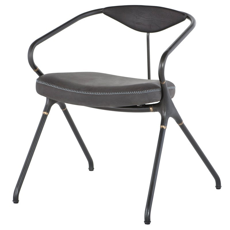 AKRON DINING CHAIR - STORM BLACK
