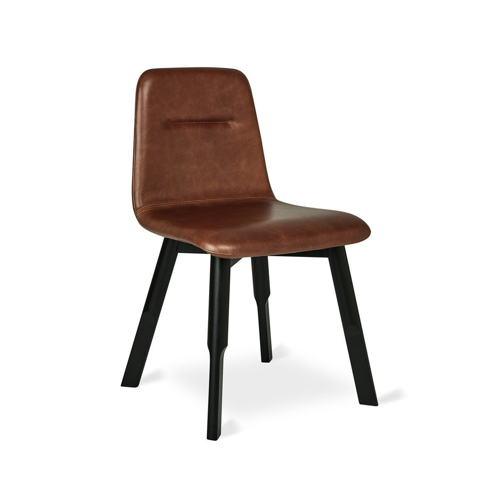 Bracket Dining Chair Saddle Brown Leather Saddle Brown Leather Dining Chair Gus* Four Hands, Mid Century Modern Furniture, Old Bones Furniture Company, https://www.oldbonesco.com/
