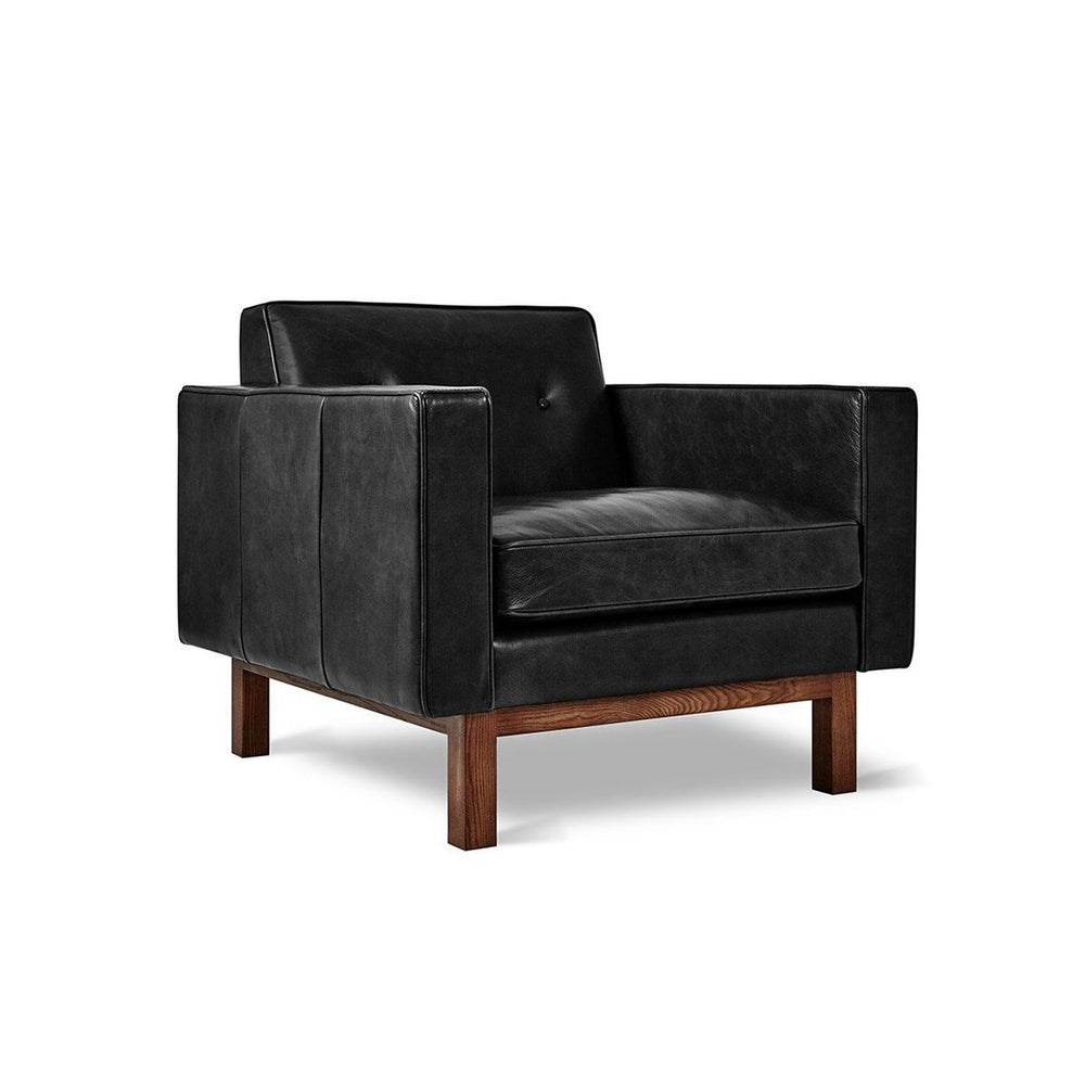 Embassy Chair Saddle Black Leather Saddle Black Leather Lounge Chair Gus* Old Bones Furniture Company https://www.oldbonesco.com/