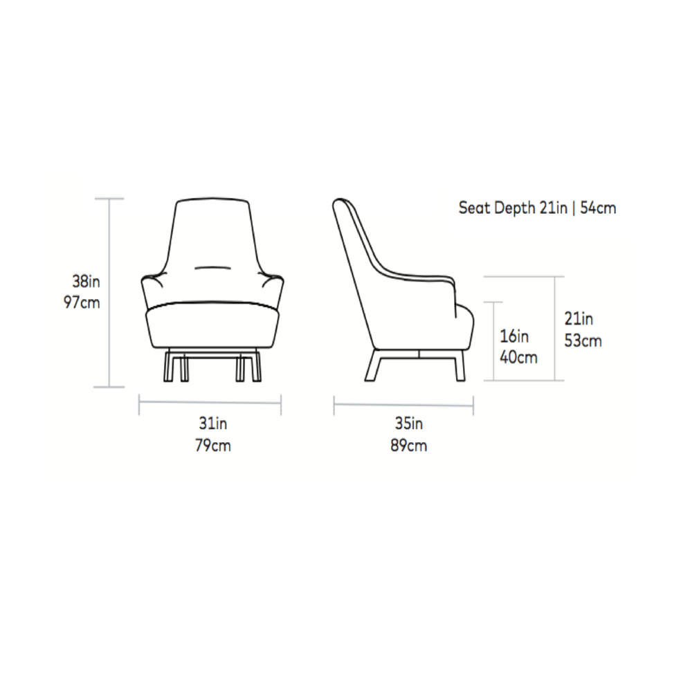 Hilary Chair   Lounge Chair Gus* Four Hands, Mid Century Modern Furniture, Old Bones Furniture Company, https://www.oldbonesco.com/