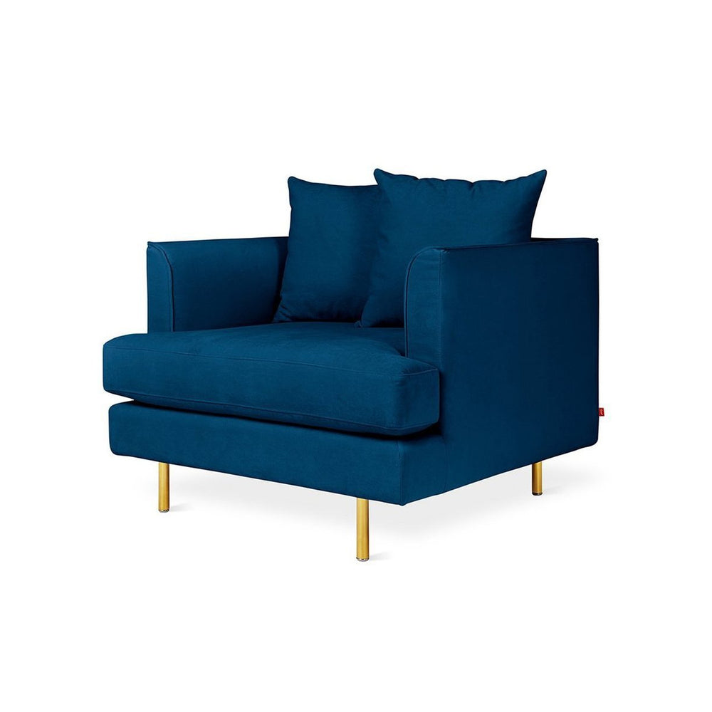 Margot Chair Velvet Midnight / Brass Velvet Midnight Lounge Chair Gus* Four Hands, Mid Century Modern Furniture, Old Bones Furniture Company, https://www.oldbonesco.com/