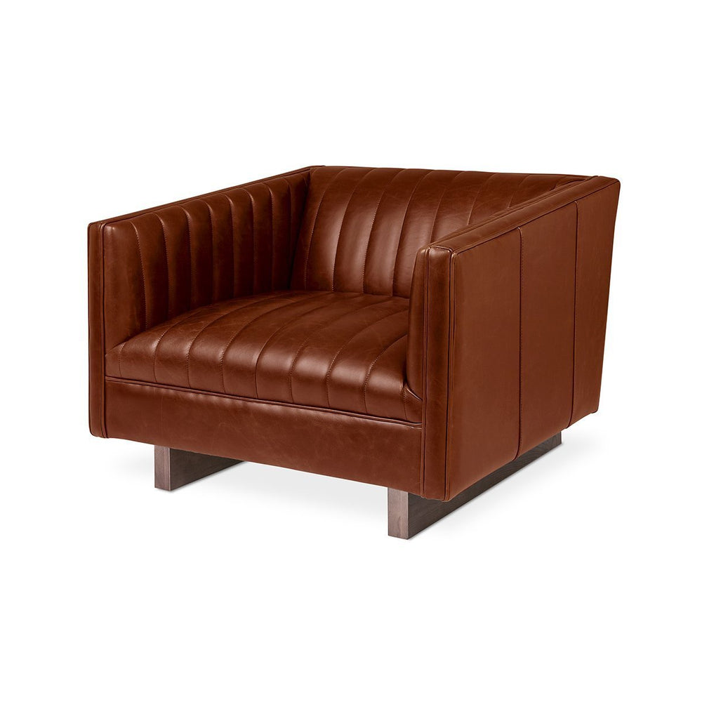 Wallace Chair Saddle Brown Leather Saddle Brown Leather Lounge Chair Gus*, Old Bones Co, Modern Furniture, https://www.oldbonesco.com/