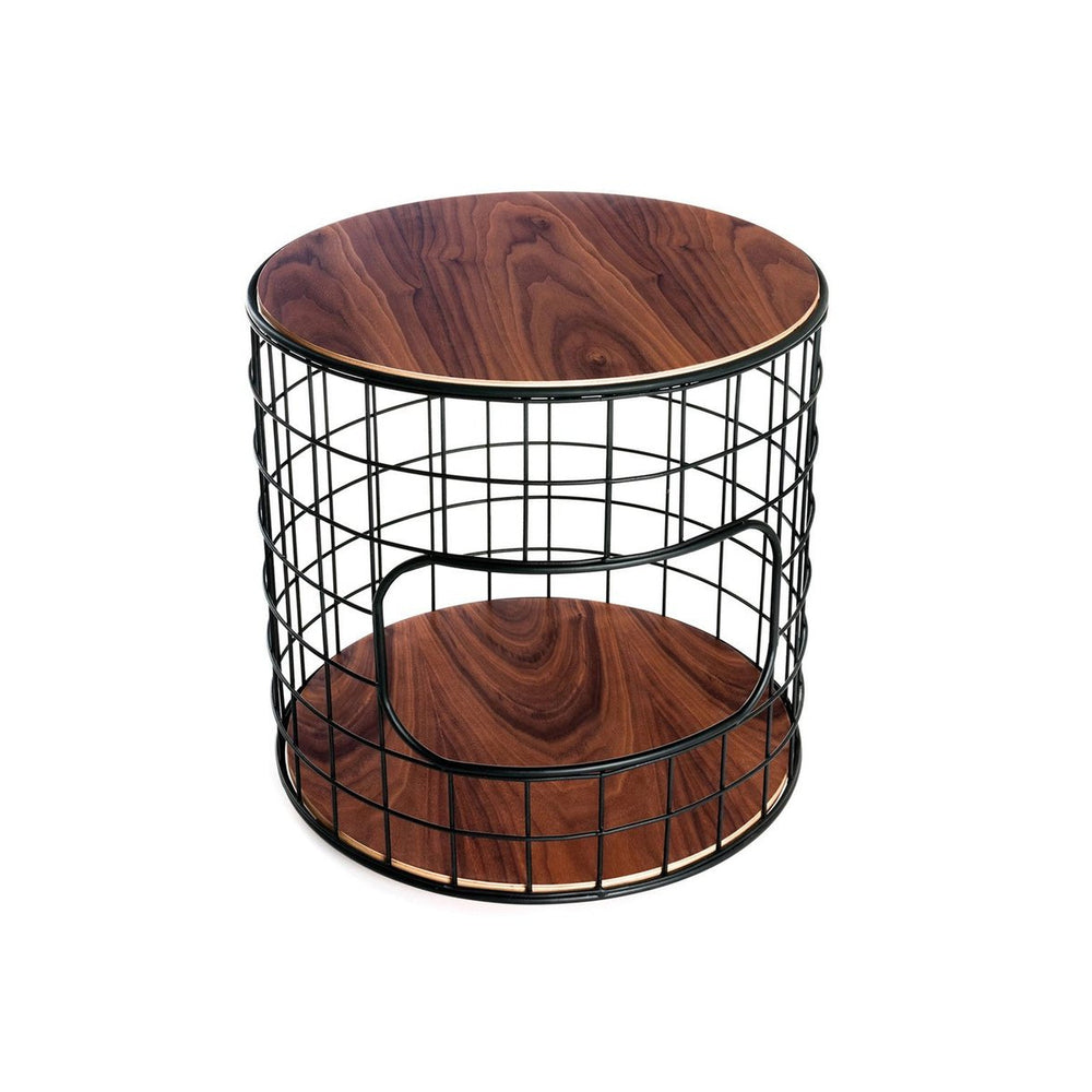 Wireframe End Table Walnut & Black Walnut & Black Side Table Gus* Four Hands, Mid Century Modern Furniture, Old Bones Furniture Company, https://www.oldbonesco.com/