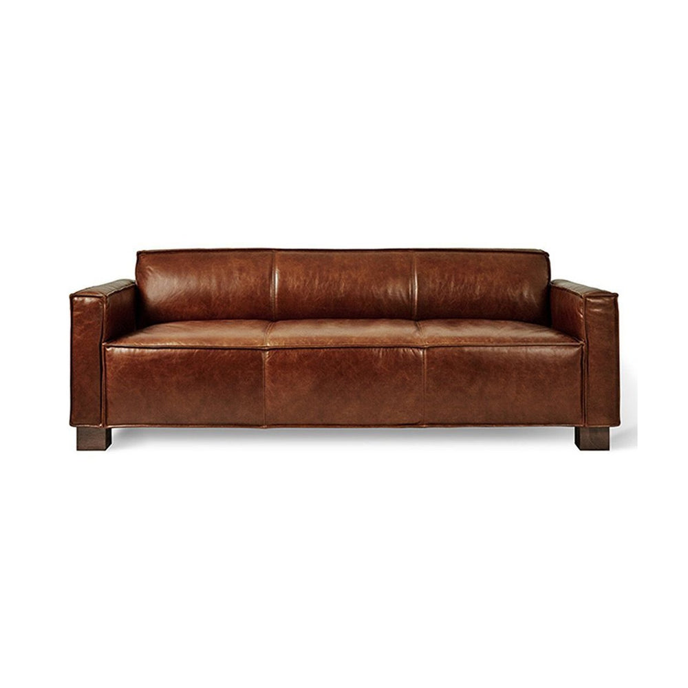 Cabot Sofa Saddle Brown Leather Saddle Brown Leather Sofa Gus* Old Bones Furniture Company https://www.oldbonesco.com/