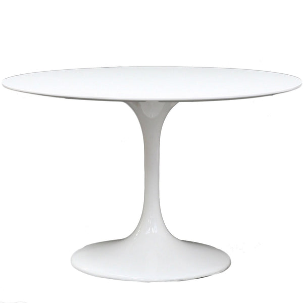 Saarinen Inspired Fiberglass Round Dining Table - Old Bones Furniture Company
