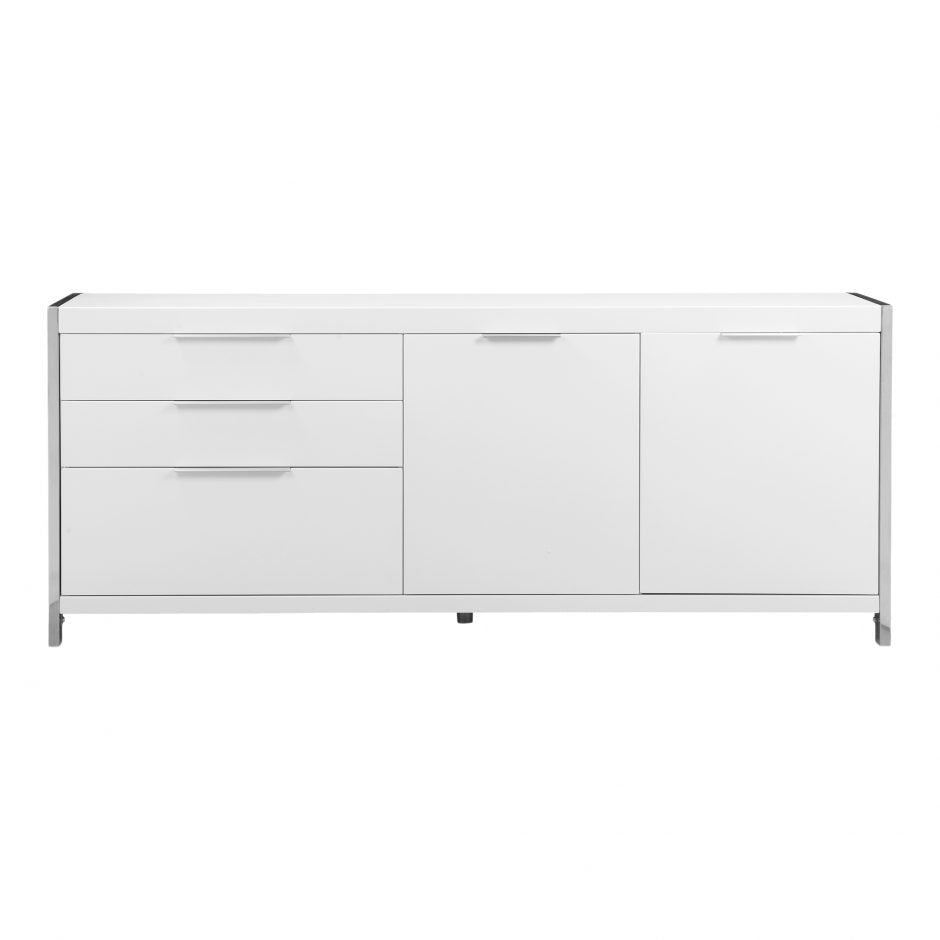 Neo Sideboard White White Buffet Moe's, Old Bones Co  https://www.oldbonesco.com/