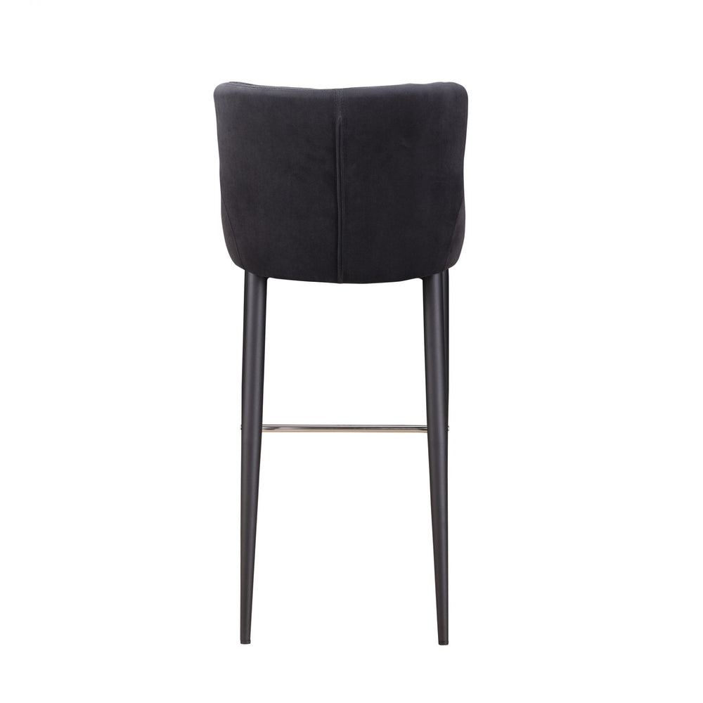 Etta Bar Stool Dark Grey   Barstool Moe's Four Hands, Mid Century Modern Furniture, Old Bones Furniture Company, https://www.oldbonesco.com/