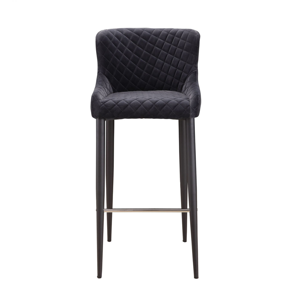 Etta Bar Stool Dark Grey Dark Grey Dark Grey Barstool Moe's Four Hands, Mid Century Modern Furniture, Old Bones Furniture Company, https://www.oldbonesco.com/
