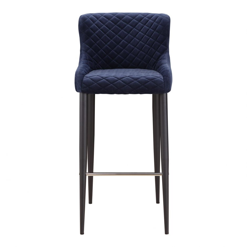 Etta Bar Stool Dark Grey Dark Blue Dark Blue Barstool Moe's Four Hands, Mid Century Modern Furniture, Old Bones Furniture Company, https://www.oldbonesco.com/