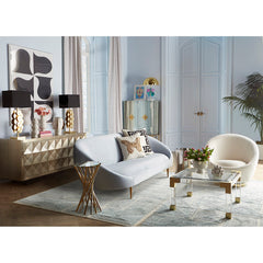 Ether Swivel Chair - Bergamo Snow